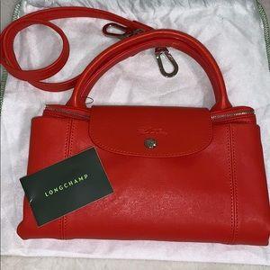 Longchamp le pliage cuir large tote bag